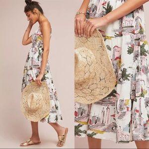 ANTHROPOLOGIE LAZY BONES Cityscape Midi Dress